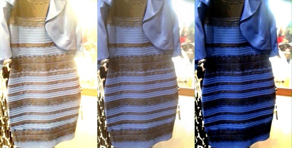 White and Gold dress Vs. Blue and Black